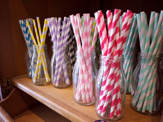Ashdown and Bee - Colourful Striped Straws