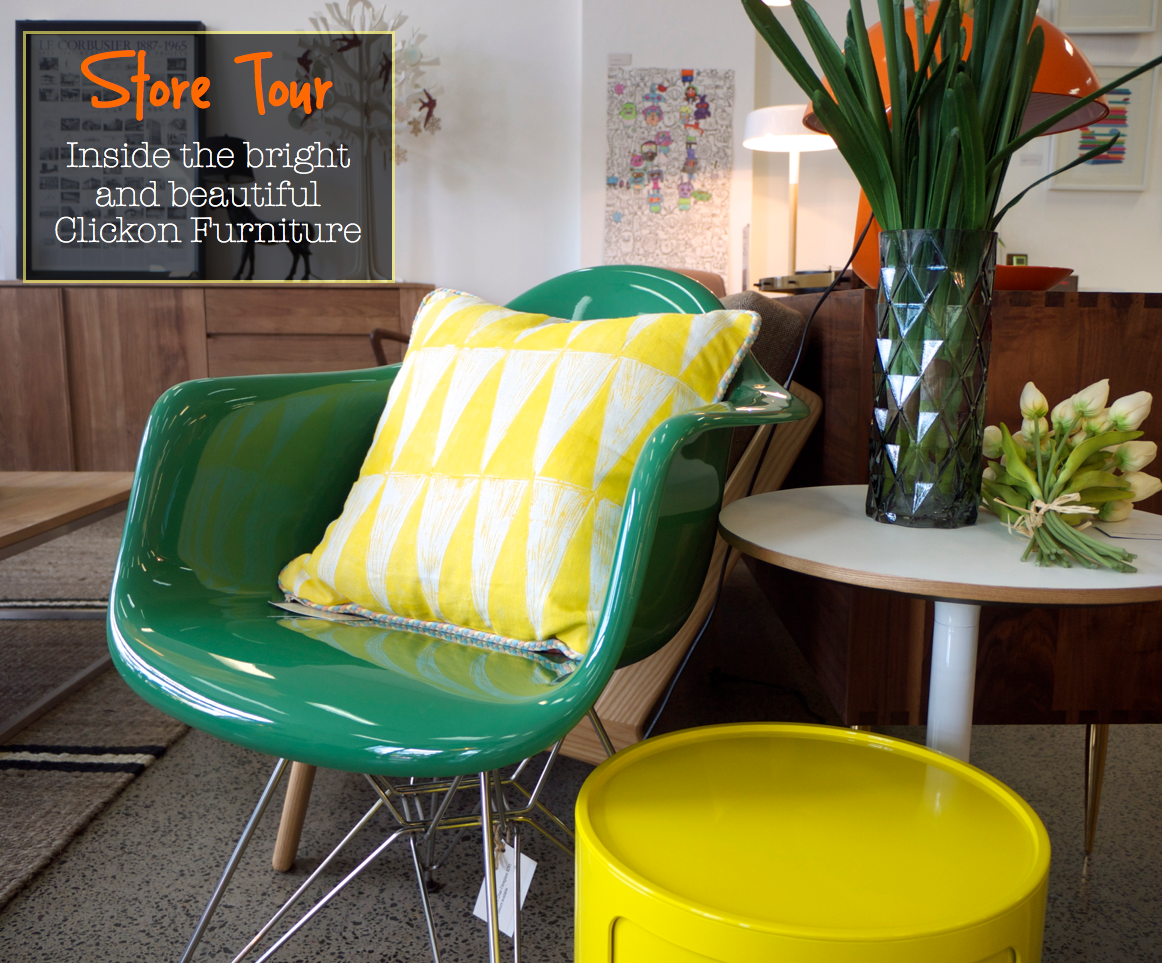 Clickon Furniture - Green Chair with Yellow Cushion