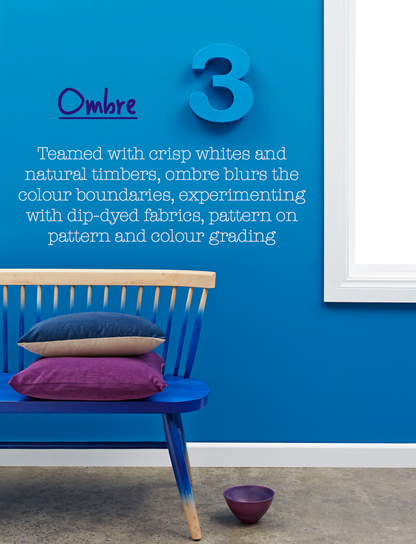 Paint Place colour trends forecast for 2014 - Ombre