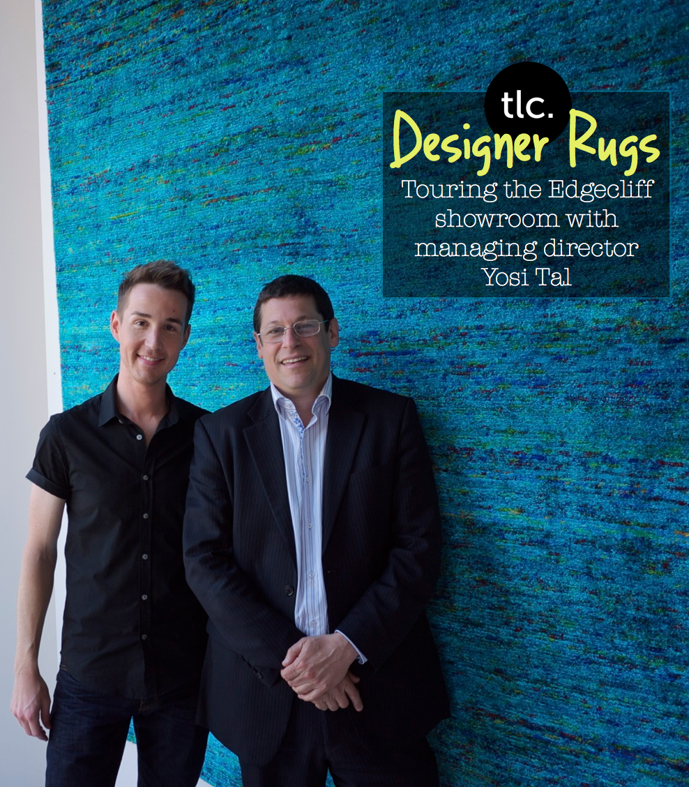Designer Rugs - Chris with Director Yosi Tal