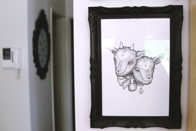 Quirky Art from Jenna Bain's Living Home