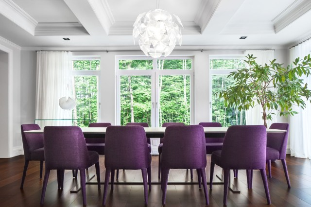 interior-purple-chairs-with-white-table-for-dining-room-contemporary-white-home-with-black-and-purple-interior-design