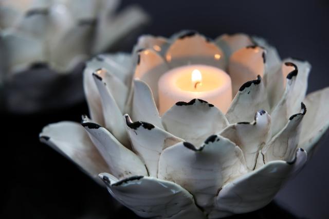 White Homewares - Mandalay Candle Holder from Papaya