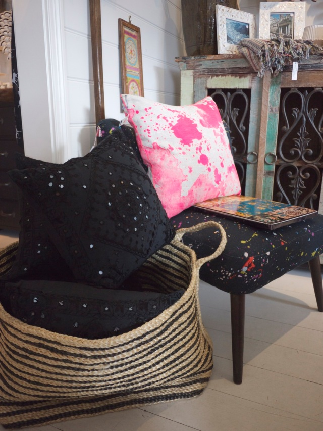 Indigo Love Store Tour - Neon Cushions and Basket