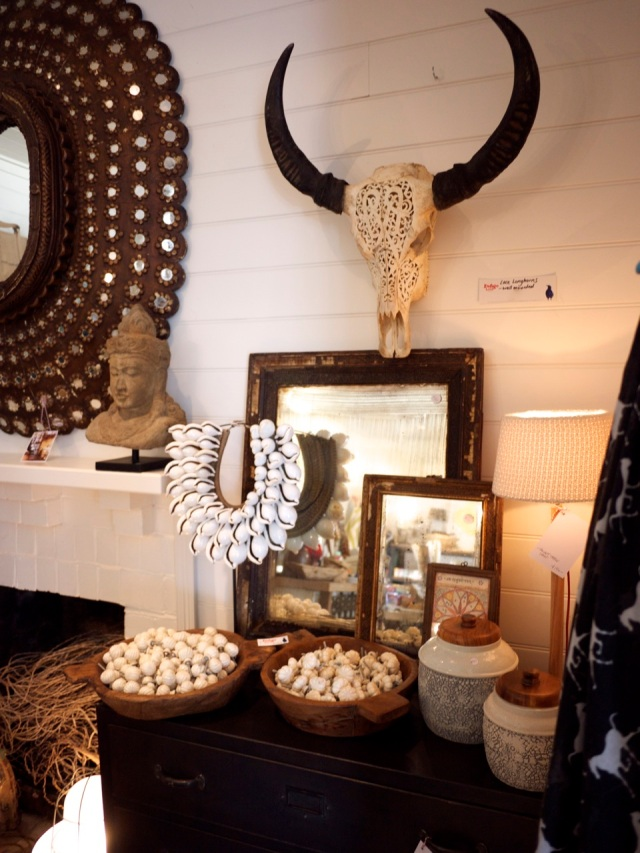 Indigo Love Store Tour - Animal Skull with Horns and Mirror Cluster