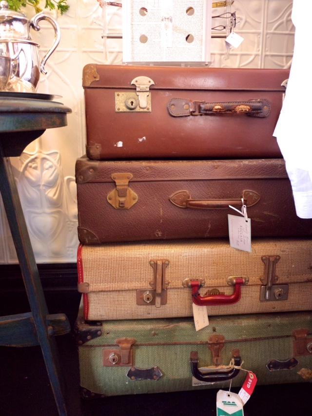 Vintage Furniture and Homewares at Reclaim in Newtown - Suitcases