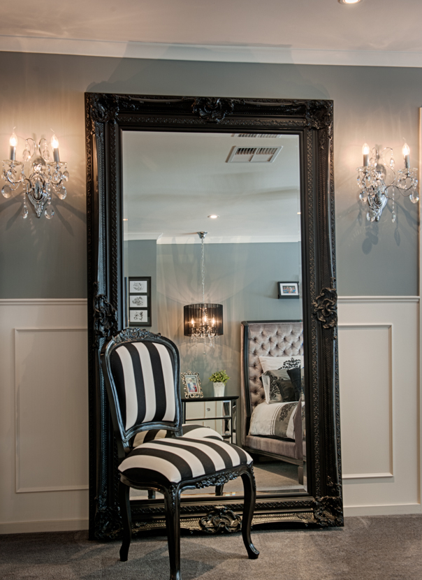 Cathy Elsmore's Before and After Boudoir - Black Ornate Mirror